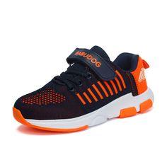 b778539b9a9 Fly Air Mesh Transpirable Zapatos de Los Niños Con Estilo de Punto Deportes  Zapatillas Zapatos de