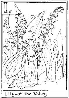 Old fashioned Flower Fairies coloring pictures for you to print