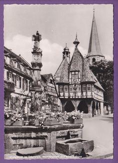MICHELSTADT GERMANY ODENWALD HESSE DEUTSCHE FACHWERKHAUSER HISTORIC VINTAGE