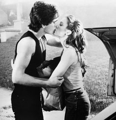 Rumble Fish / Matt Dillon, Diane Lane I love Diane Lane's hair with the half pony tail and the skinny headband.