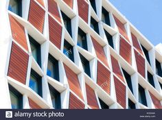 Download this stock image: Patterns formed from the windows and cladding on the facade of student accommodation in London. The structure comprises a reinforced concrete frame wi - KCEA0A from Alamy's library of millions of high resolution stock photos, illustrations and vectors.