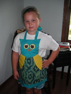 Adorable Child Owl Apron by MyLoveOfAprons on Etsy, $14.99