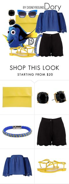 """""""Dory"""" by leslieakay ❤ liked on Polyvore featuring Marni, Kate Spade, Dsquared2, Boohoo, Nine West, Dita, disney, disneybound and disneycharacter"""