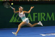 Caroline Wozniacki derrota a Vandeweghe en el @Abierto Monterrey  (01/04/14) Foto: Roberto Alanís