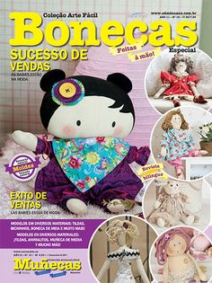 Artesanato - Bonecas : COL ARTE FACIL BONECAS ESP 016 - Editora Minuano