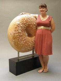 Woman bagel Claes Oldenburg