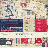 Glory 12X12 Collection Kit By Authentique Paper      12 double sided papers, Details, and Elements      Part of the Glory  collection. Glory is an Americana based line with a wonderful vintage feel.