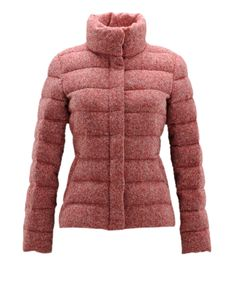 France Moncler Cardere Classic Down Jackets Women Stand Collar Red Outlet