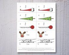 Printable Christmas gift tags hand drawn Christmas by ThiiisMuch