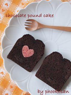 チョコレートパウンドケーキ マジパン
