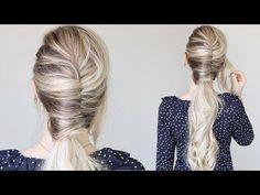 How To: Easy French Twist Ponytail Elegant Hairstyles, Loose Hairstyles, Ponytail Hairstyles, Scene Hairstyles, Hairstyles Videos, Trendy Hairstyles, Long Haircuts, Easy Hairstyle, Wedding Hairstyles