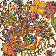 Feather Heaven by Artist Valentina Harper (formerly Ramos). Embroidery Kits, Beaded Embroidery, Heaven Art, Mehndi, Quilling, Indian Art, Doodle Art, Art Lessons, Illustration