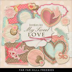 Scrapbooking TammyTags -- TT - Designer - Far Far Hill,  TT - Item - Kit or Collection, TT - Style - Mini Kit, TT - Theme - Love, Valentines, or Wedding
