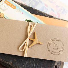 Vintage Boarding Pass Wedding Invitation by beyonddesign on Etsy