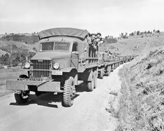 "* During World War II, GMC manufactured approximately 584,000 military vehicles of more than a dozen different types, including the CCKW-353 ""Deuce-and-a-Half"" and the amphibious ""Duck."" The Deuce and a Half, shown above being assembled in Pontiac, Michigan, was the most prevalent GMC military vehicle, with over 560,000 examples built over the course of the war."