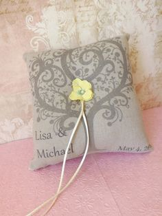 Rustic Country Wedding Ring Bearer Pillow by creations4brides, $28.00
