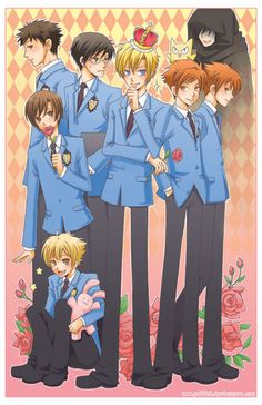 Ouran High School Host Club It seems Kyoya-senpai is the only one who noticed that Nekozawa-senpai photo-bombed them :p