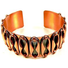 Vintage Renoir Matisse Espana Copper Cuff Bracelet Black Enamel Mid Century Mod #RenoirMatisse #MidCenturyModernist