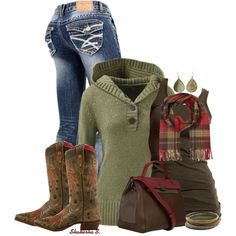 Cowboy Boots, created by shakerhaallen on Polyvore