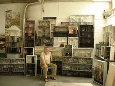 """ceruleancynic:  """"jumpingjacktrash:  """" devidsketchbook:  """" MYSTERIOUS TINY ROOMS BY MARC GIAI-MINIET  French artist Marc Giai-Miniet (Born in 1946 in Trappes) makes some of the most incredibly detailed..."""