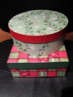Mod Podge gift boxes