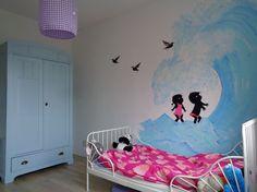 Jip en Janneke muurschildering kinderkamer