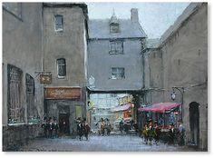 """France. Mont Saint-Michel canvas, oil 23.6""""x31.5"""", 2011; 2500$"""