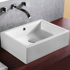 Caracalla Ceramica Rectangular Bathroom Sink Wayfair.com 20.8 x 14.17 x 6.1 with overflow