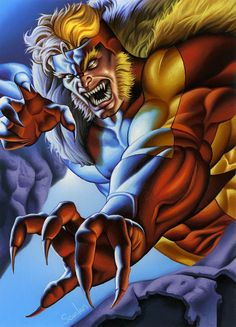 Sabretooth by Peter Scanlan Marvel And Dc Characters, Marvel Comic Character, Comic Book Characters, Xmen, Sabretooth Marvel, Marvel Comic Universe, Comics Universe, Marvel Dc Comics, Wolverine Movie