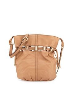 Kooba Echo Drawstring Bucket Bag, Camel