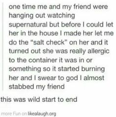 FunSubstance - Funny pics, memes and trending stories My Tumblr, Tumblr Funny, Funny Quotes, Funny Memes, Hilarious, Funny Tweets, Winchester, Destiel, Johnlock