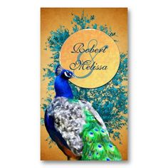Gorgeous rich Peacock Wedding Favor Gift Tag from http://www.zazzle.com/peacock_wedding_favor_gift_tag_cards_business_card-240826895004710410?rf=238505586582342524