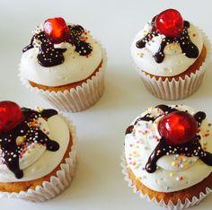 Sundae cupcakes
