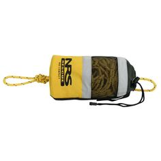 """The NRS Pro Compact Throw Bag is an excellent choice for anyone planning for swiftwater rescue work where light weight and a strong rope are desirable. The yellow Cordura® bag with 70' of 1/4"""" Dyneema® line rated at 2495 pounds is easy to stow and highly visible."""