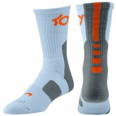 18bf53d2230e Nke Elite KD Kevin Durant Basketball Crew Socks light blue on Wanelo
