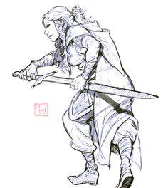TB choi Female/ Long Hair/ Sword/ Medieval clothing