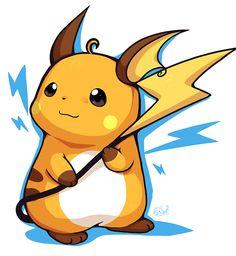 Raichu 3ds Pokemon, Pokemon Sketch, Pokemon Ships, Pokemon Party, Cool Pokemon, Pichu Pikachu Raichu, Pikachu Art, Manga, Original Pokemon