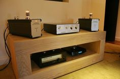 THÖRESS 845 Power Amplifiers with preamp driving the fabulous TANNOY Westminster GR Dual Concentric Speakers.