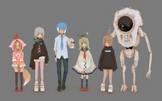 /lowpoly/ 2 - Electric Boogaloo - - is board for modeling and imagery. 3d Model Character, Character Modeling, Game Character, Character Concept, 3d Modeling, Cute Characters, Anime Characters, Rendering Art, Animation Reference