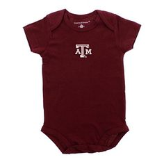 Tiny Tailgater School Team Onesie Maroon Texas A and M Aggies 12 m -- Be sure to check out this awesome product.Note:It is affiliate link to Amazon.