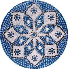 Round White Marble Breakfast Table Top Inlaid Home Hallway Decoration Mosaic Pots, Mosaic Diy, Mosaic Garden, Mosaic Crafts, Mosaic Projects, Mosaic Glass, Mosaic Tiles, Mosaic Artwork, Mosaic Wall Art