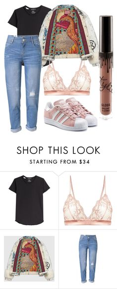 """""""Untitled #21"""" by angelina-clancy ❤ liked on Polyvore featuring Alexander McQueen, Fleur of England, Gucci, WithChic and adidas Originals"""