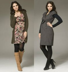 I love the one on the left! Who said pregnant women couldn't be fashionable?!