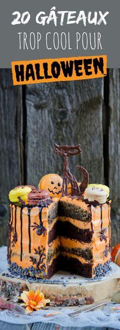 20 terrifying recipes for Halloween Halloween Desserts, Sugar Skull Halloween, Halloween Food For Party, Halloween Cakes, Holidays Halloween, Halloween Treats, Halloween Diy, Happy Halloween, Pasteles Halloween