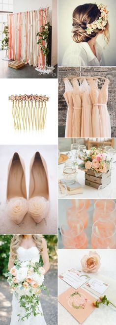 Mouth-watering peaches & cream wedding day inspiration!