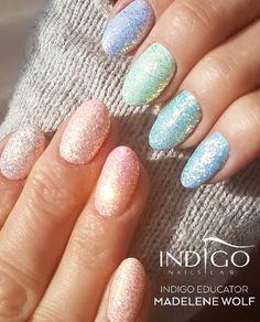 Miami Gel Polish Collection + Cinderella Pixel Effectby Indigo Educator Madelene Wolf, Sweden #nails #nail #indigo #indigonails #nailsart #cinderella #pastelnails #pastel #magicnails