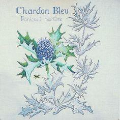 """Thistle Chardon Bleu""   Cross Stitch Pattern @frenchneedle"