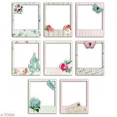 Cadres polaroid - Fleurs et Papillons - 8,8 x 10,7 cm - 8 pcs - Photo n°2