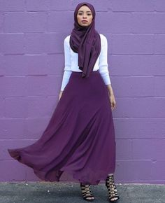 Hijab + Plum Flowy Maxi (feeeeya)