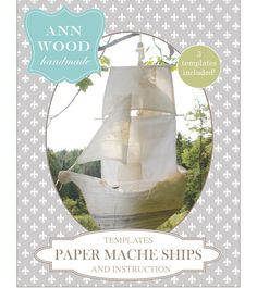 A paper mache ship pattern (downloadable PDF) designed by Ann Wood. You will need Adobe Reader (free) to view this pattern. Skill level is beginner to advanced – there's tons of instruc… Origami, Ann Wood, Tape Painting, Patterned Sheets, Paperclay, Digital Pattern, Zentangles, Pattern Paper, Projects To Try